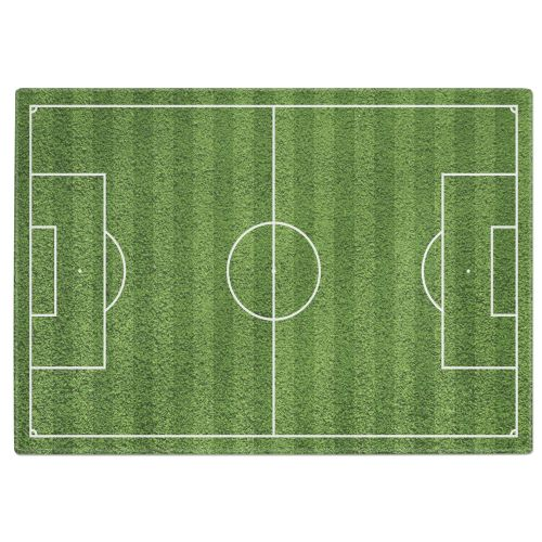 Football Pitch Tempered Glass Chopping Board